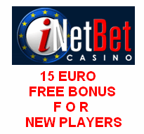 Come and play at new iNetBet.eu Casino with 15 Euro FREE Bonus - No ...