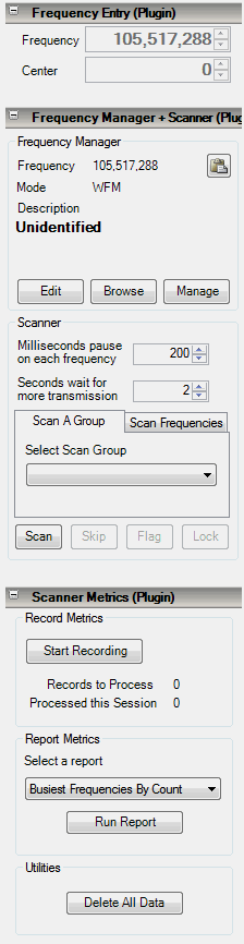 Frequency Manager + Scanner Plugin