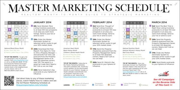Monthly Marketing Calendar