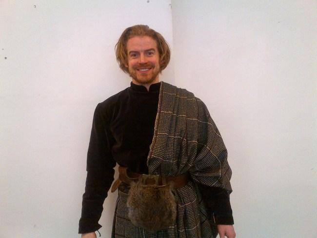 Ruaraidh in costume for Borgia III