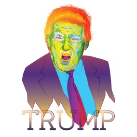 Donald Trump illustration by Sacramento Illustrator Ruben Young