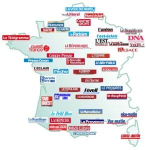 Carte de la PQR en France