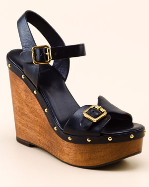 Tory Burch Tatum Leather Wedge