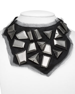Adia Kibur Fabric Bib Necklace