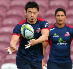 Ayumu Goromaru trains with his new team the Reds