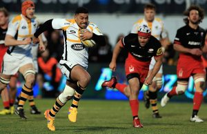 Double try scorer Charles Piutau of Wasps breaks clear