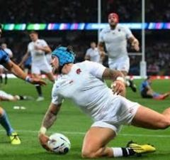 Jack Nowell scores for England