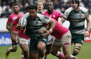 Try scorer Manu Tuilagi in action for Leicester Tigers