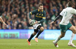 Willie Le Roux in action for South Africa against Ireland