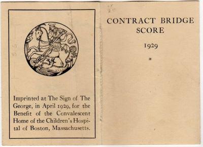 Contract bridge score 1929 | George Parker Winship