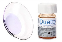 Duette lens with vial