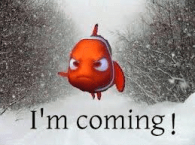 Photo of Nemo coming down the street in a blizzard