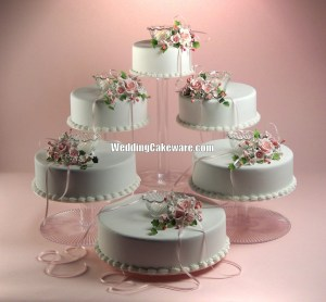 6 tier cascading cake stands