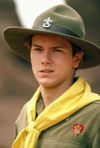 River Phoenix as young Indiana Jones.