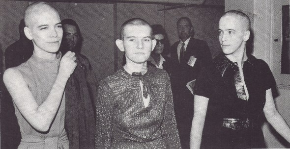 Van Houten, Krenwinkle and Atkins shave their heads to receive sentencing. In late 1981, Atkins married an eccentric Texas millionaire in the Fontera prison chapel. WIDE WORLD PHOTOS