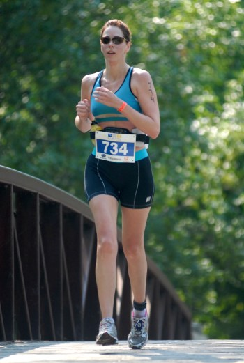 first triathlon, run