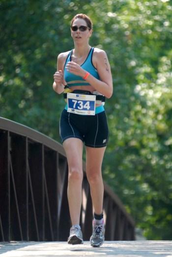 first triathlon, run