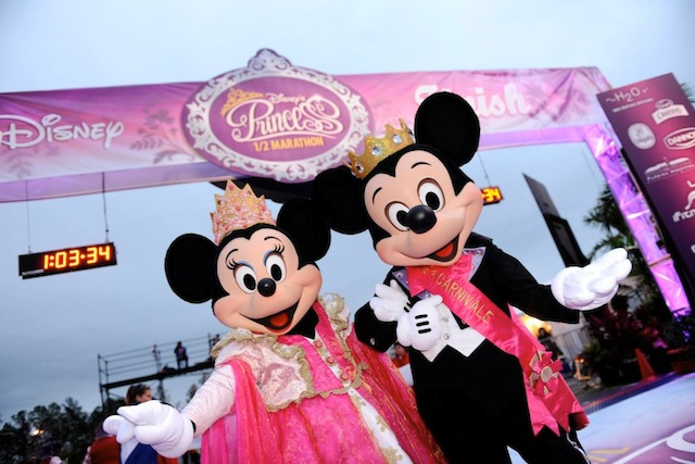 Princess Minnie and Mickey