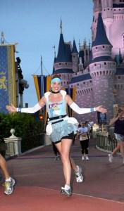 Disney running, run Disney, Disney Half Marathon, Disney's Princess Half Marathon, runDisney, Cinderella, Cinderella running costume, Cinderella castle