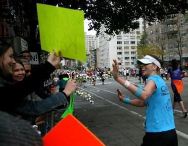 NYC Marathon, first marathon, marathon spectators