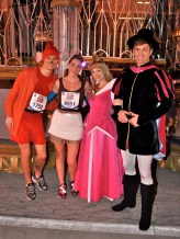 Walt Disney World Marathon, Disney running, run Disney, Sleeping Beauty, Princess Aurora, Prince Philip, Cinderella in rags running costume