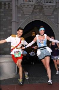 Disney running, run Disney, Disney Half Marathon, Disney's Princess Half Marathon, Cinderella, Prince Charming, Cinderella running costume