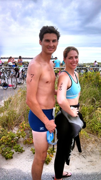 Montauk Point Lighthouse Sprint Triathlon, swim bike run