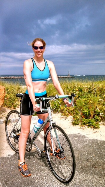 Montauk Point Lighthouse Sprint Triathlon, swim bike run, Trek Lexa S