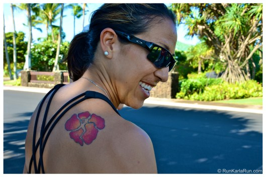 running tattoo, Kauai Marathon