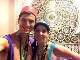 """Genie! We were so happy to see a character from """"Aladdin"""" on the course."""