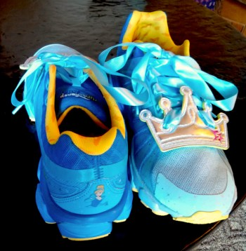 Cinderella shoes, Disney running costume, runDisney New Balance shoes