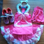 How to make a Cinderella pink dress for running
