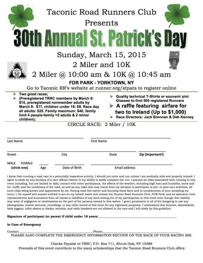 St Pats flyer 2015
