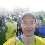 Morgens um 8 vor dem Reichstag.