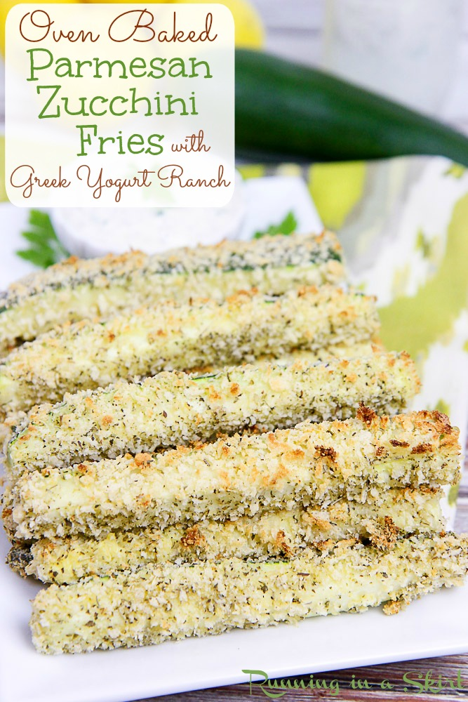 Overrun with zucchini? Try my Oven Baked Zucchini Fries with Greek ...
