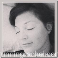 running rachel sleeping on technogel pillow