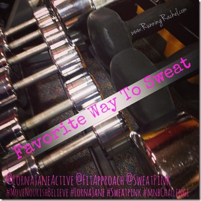 lorna jane, move nourish believe, challenge, sweat pink, fitapproach, favorite way to sweat, weights, strength