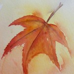 Watercolour painting. Autumn's Dance (SPA003) Artist: Seonaid Parnell