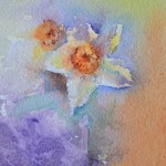 watercolour painting. SBA002 Spring. Artist: Sue Bradley