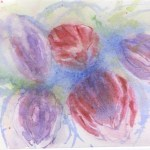 Watercolour painting. RWB0179 Tulips. Artist: Vandy Massey