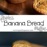 . flourless banana bread muffins .