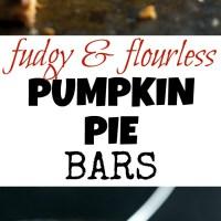 fudgy flourless pumpkin pie bars
