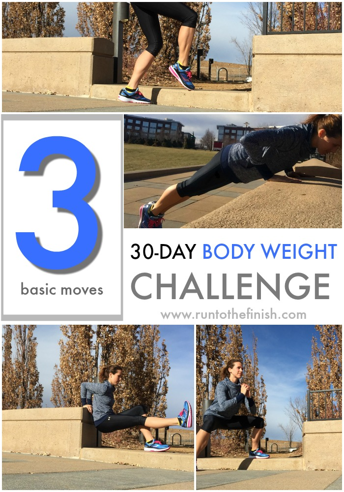 30 day body weight challenge - 3 basic moves described that you can do anywhere