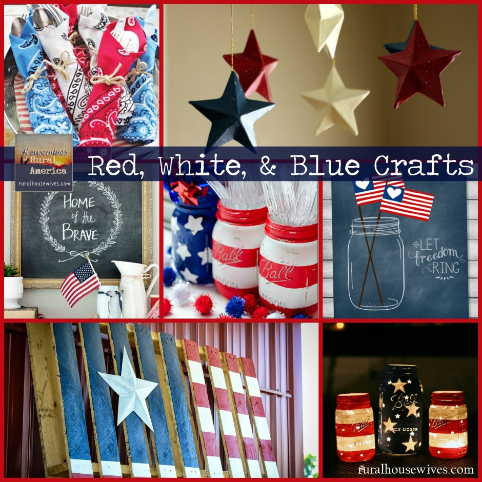 Red White Blue Crafts - Rural Housewives