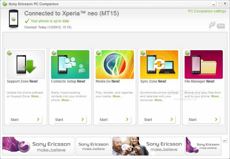 sony xperia tipo pc companion for windows 7 Ericsson will close