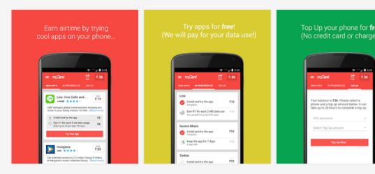 Free Mobile Recharge Tricks for Android 2015 - mCent