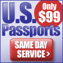 US passports, only $99. Same Day Service