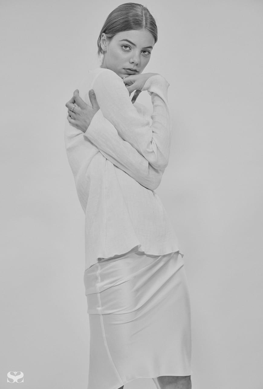 GEORGIA ALICE top; TYLYNN NGUYEN dress from Par Femme.