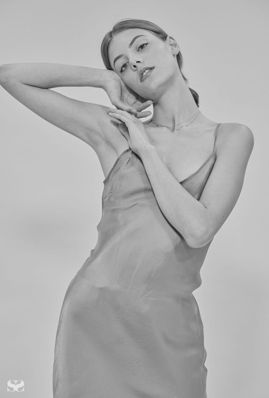ORGANIC BY JOHN PATRICK dress from My Chameleon; LEE MATHEWS skirt.