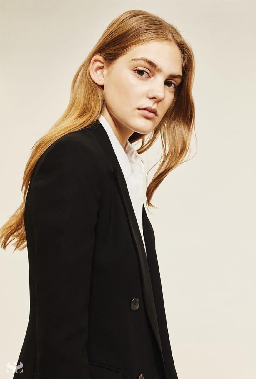 BIANCA SPENDER jacket; TOME shirt; THE KOOPLES skirt.
